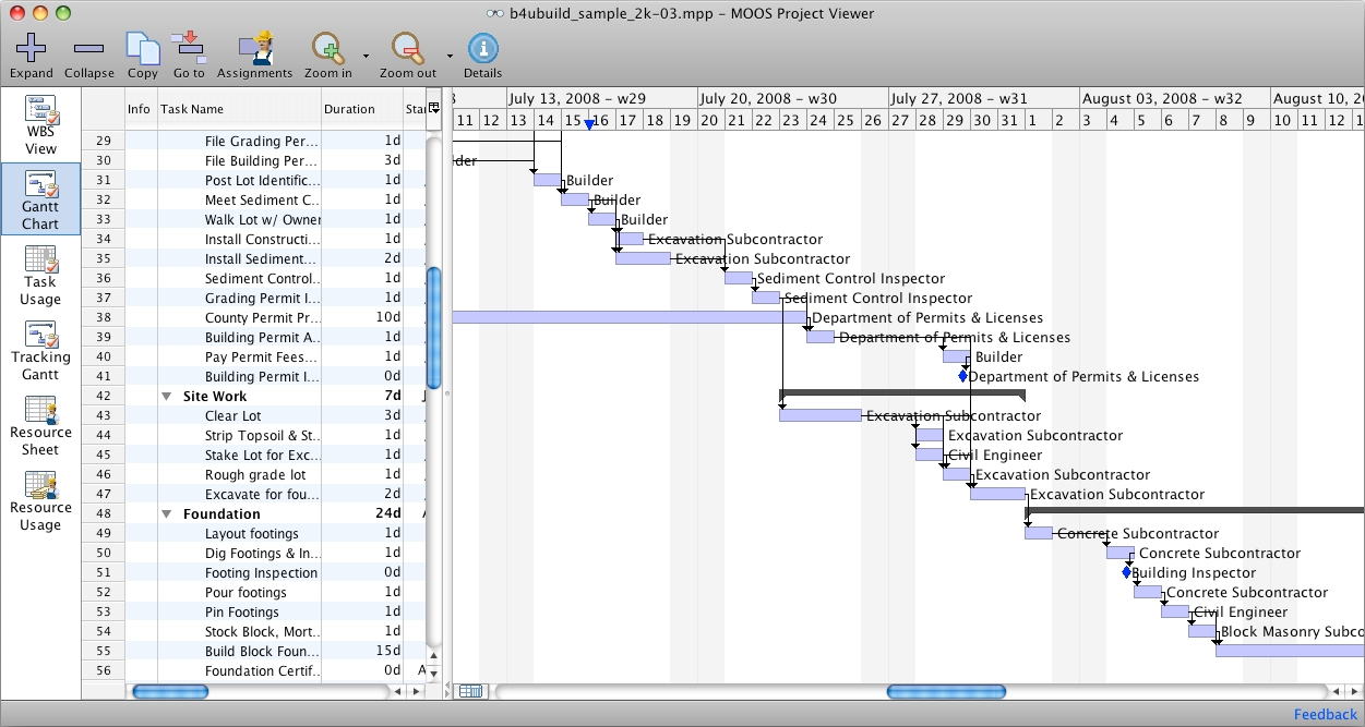 MS Project Viewer for Mac full screenshot